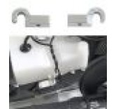 Alloy support for fuel tank fixation strap, 1 pair