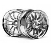 WORK XSA 02C WHEEL 26mm CHROME (3mm OFFSET) 3mm Of