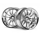 WORK XSA 02C WHEEL 26mm CHROME (6mm OFFSET) 6mm Of