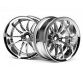 WORK XSA 02C WHEEL 26mm CHROME (9mm OFFSET) 9mm Of