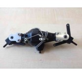driven steering CVD axle with cable locks (15) for 6x6