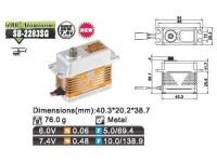 Savox Servo SB-2283MG Brushless 6V/7.4V std.size 0.048 speed/10k