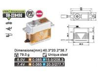 Savox Servo SB-2284SG Brushless 6V/7.4V std.size 0.065 speed/20