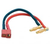 LiPo hardc. adapter wire 4mm male plug to US styl