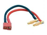 LiPo hardc. adapter wire 4mm male plug to US styl