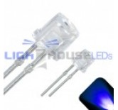 3mm Flat Top Wide Angle Blue LED - Ultra Bright  (4 STK)