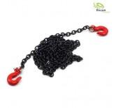 Krok rød kjetting sort 96cm