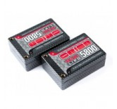 CARBON PRO 5800-100C-7.4V LIPO SADDLE PACK -TUBES (288g)