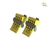 1/14 wheel chocks yellow with holder black 2  pieces