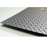Diamond plate steel  20x30cm 0,35 mm thick