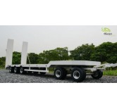 1:14 Low  loader trailer white RTR