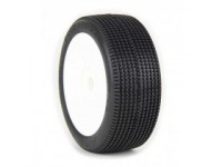 1:8 BUGGY TYRES ON EVO WHITE RIMS DOUBLEDOWN SOFT LONG WEAR (2)