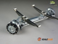 1/14 front axle V2A with springs, hub and disc brake