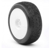 1:8 BUGGY IMPACT (SOFT - LONG WEAR) EVO WHEEL PRE-MOUNTED WHITE