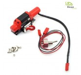 1:10/1:14 Winch Metall red with steel cable 7,2V